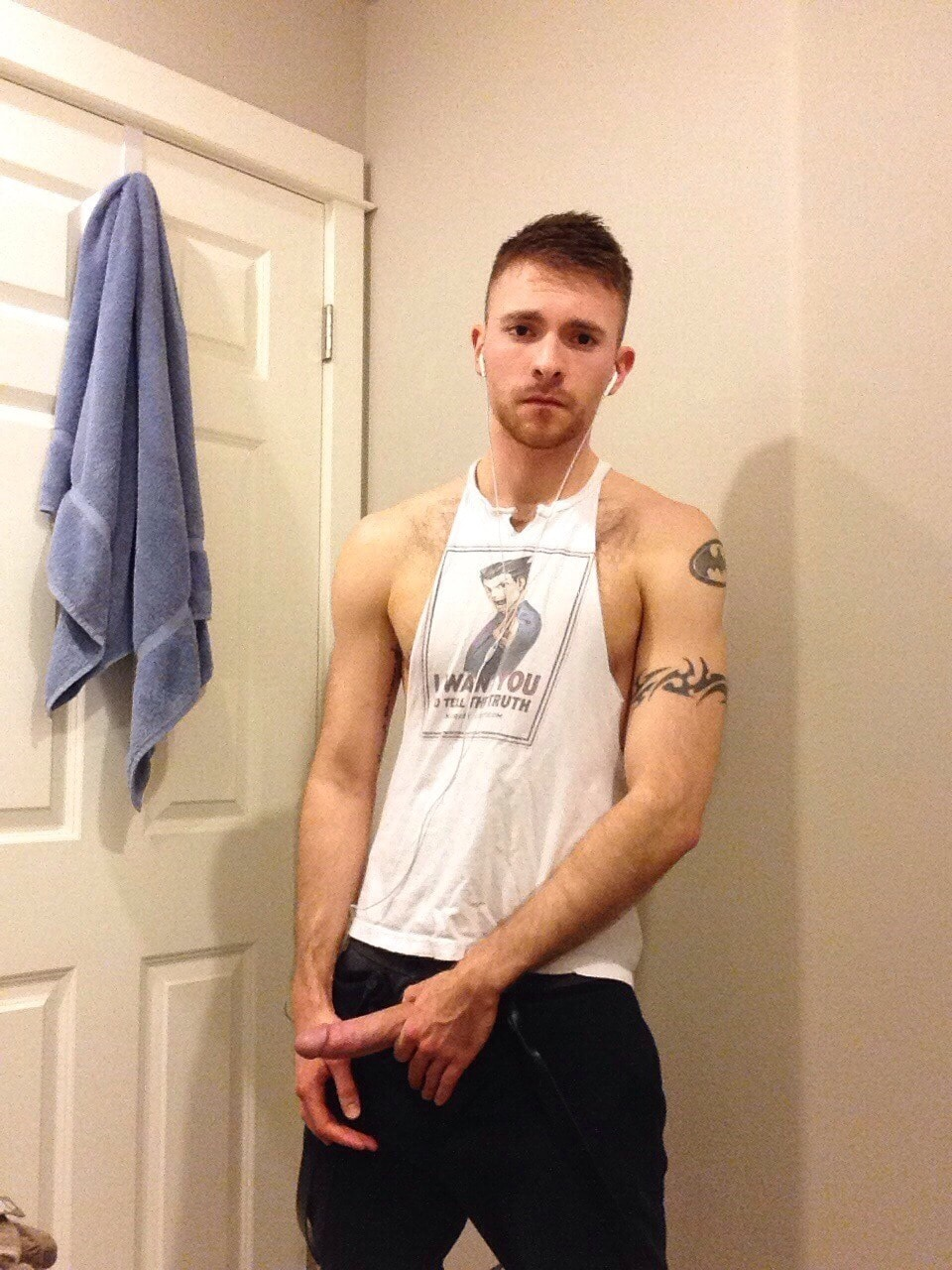 Clothed Guy Shows Cock