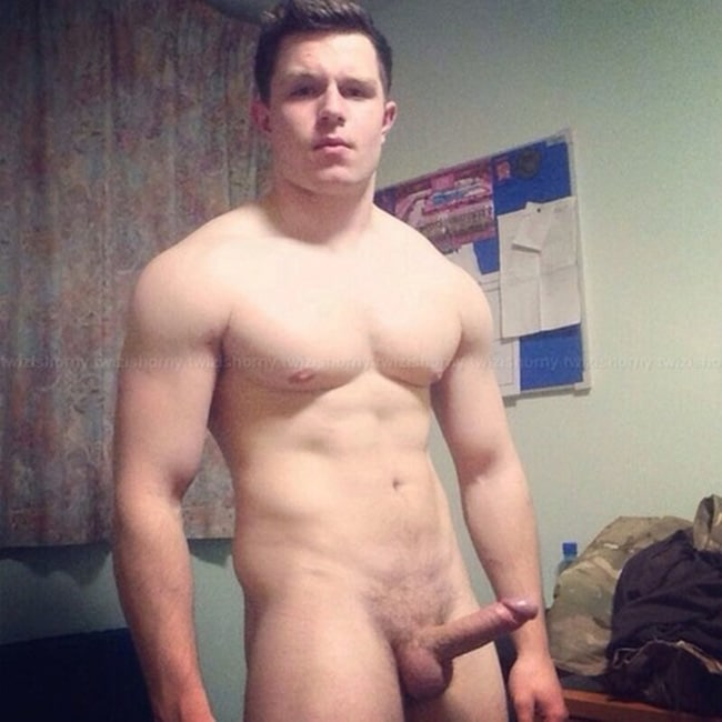 Muscle Boy With A Hard Dick